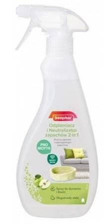 Odplamiacz i Neutralizator Zapachów probiotyczny - niezawodna formuła 2w1 Beaphar 500ml