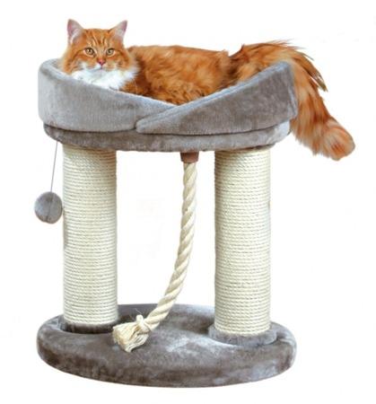 Drapak dla kota z legowiskiem - szary