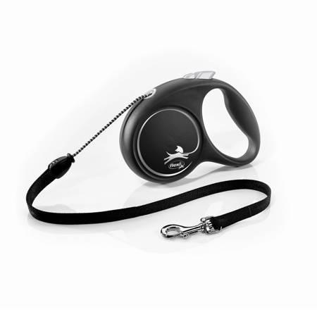 Flexi Black Design Smycz automatyczna Linka Small 5m czarna