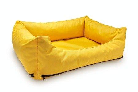 Loftowa modna kanapa, sofa - legowisko wodoodporne z wymiennymi pokrowcami M żółte