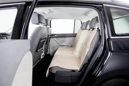 Mata samochodowa na tylne lub przednie siedzenie - beżowa - 140x120 cm