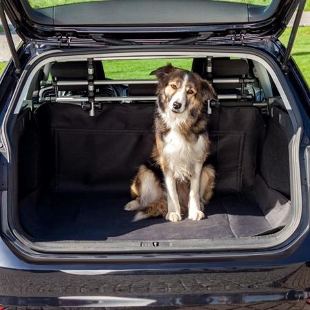 Poliestrowa, czarna mata dla psa do bagażnika - 120x150 cm