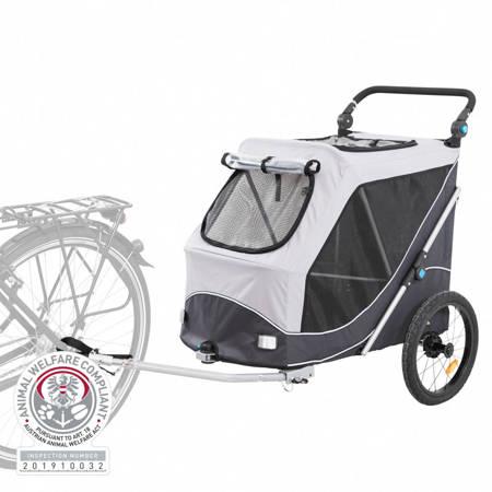 Przyczepka rowerowa dla psa Przyczepa rowerowa z funkcją szybkiego składania M szara