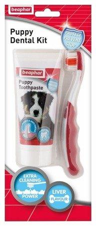 Zestaw Szczoteczka i Pasta do mycia zębów dla szczeniąt Puppy Dental Kit