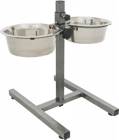 Zestaw: miski ze stali nierdzewnej i regulowany stojak - 2 x 2,8 l